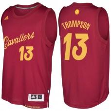 Cleveland Cavaliers #13 Tristan Thompson Burgundy Christmas Jersey