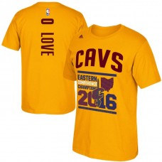Cleveland Cavaliers #0 Kevin Love Gold Finals T-Shirt