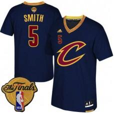 2016 Finals Cavaliers #5 JR Smith Alternate Short Sleeves Jersey-Navy