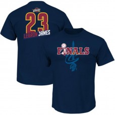 2016 Finals Lebron James Cavaliers #23 Navy T-Shirt