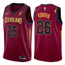 Cleveland Cavaliers #26 Kyle Korver Wine Icon Jersey