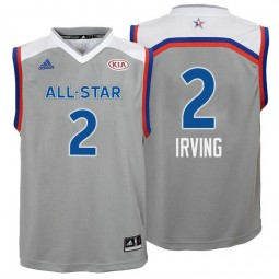 sports shoes 22896 18da8 Youth Cleveland Cavaliers #2 Kyrie Irving Gray 2017 All-Star ...