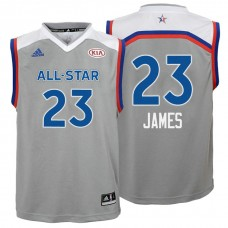 Youth 2017 All-Star LeBron James #23 Cavaliers Gray Eastern Conference Jersey