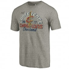 2017 Eastern Conference Champion Cavaliers Fadeaway Tri-Blend Gray T-Shirt