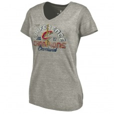 Women's 2017 Eastern Conference Champion Cavaliers Fadeaway Tri-Blend Gray T-Shirt