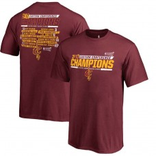 Youth 2017 Eastern Conference Champion Cavaliers Alley-Oop Roster Red T-Shirt