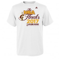 Youth 2017 Eastern Conference Champion Cavaliers Locker Room White T-Shirt