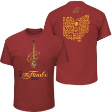 2017 Finals Cavaliers State Roster Wine T-Shirt
