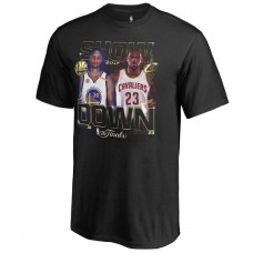 2017 Finals Cavaliers vs Warriors Bound Dueling Player Match Up Black T-Shirt