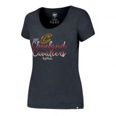 Women's 2017 Finals Cavaliers Scoop Neck Navy T-Shirt