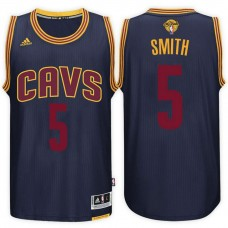 Cleveland Cavaliers #5 J.R. Smith Navy Finals Jersey