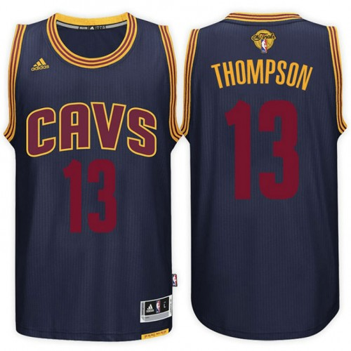 2017 Finals Patch Tristan Thompson Cavaliers Navy Jersey