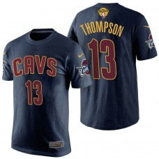 2017 Finals Patch Tristan Thompson Cavaliers Navy T-Shirt