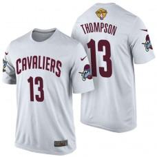 2017 Finals Patch Tristan Thompson Cavaliers White T-Shirt