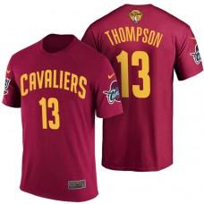 2017 Finals Patch Tristan Thompson Cavaliers Wine T-Shirt