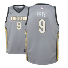 Youth Cleveland Cavaliers #9 Channing Frye Gray City Jersey