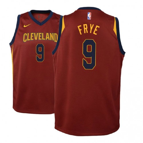 Youth Cleveland Cavaliers #9 Channing Frye Maroon Icon Jersey
