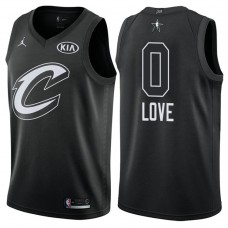 Cleveland Cavaliers #0 Kevin Love Black 2018 All-Star Jersey
