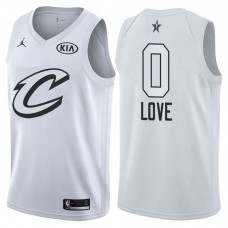 Cleveland Cavaliers #0 Kevin Love White 2018 All-Star Jersey