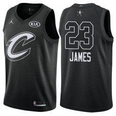 Cleveland Cavaliers #23 LeBron James Black Swingman 2018 All-Star Jersey