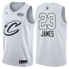 Cleveland Cavaliers #23 LeBron James White Swingman 2018 All-Star Jersey