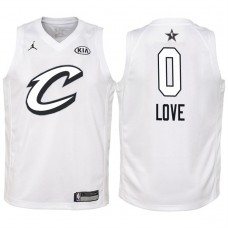 Youth Cleveland Cavaliers #0 Kevin Love White 2018 All-Star Jersey