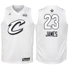 Youth #23 Cleveland Cavaliers #23 LeBron James White 2018 All-Star Jersey