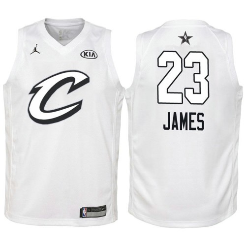 Youth #23 Cleveland Cavaliers #23 LeBron James White 2018 All-Star ...