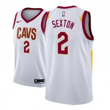 Cleveland Cavaliers #2 Collin Sexton White Association Jersey