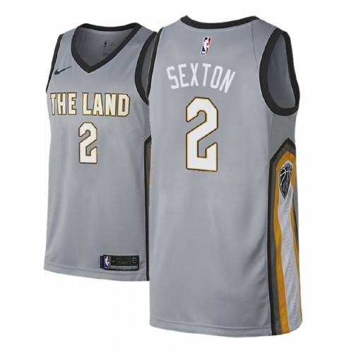 Cleveland Cavaliers #2 Collin Sexton Gray City Jersey