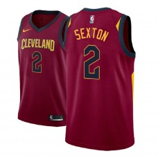2018 Draft Collin Sexton Cavaliers Icon Edition Maroon Jersey