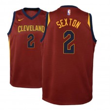 Youth 2018 Draft Collin Sexton Cavaliers Icon Edition Maroon Jersey