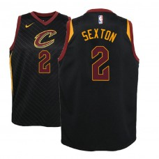 Youth Cleveland Cavaliers #2 Collin Sexton Black Statement Jersey