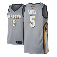 2018 Finals Patch J.R. Smith Cavaliers Gray Jersey