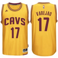 Cleveland Cavaliers #17 Anderson Varejao Gold Alternate Jersey