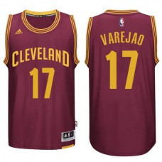 Cleveland Cavaliers #17 Anderson Varejao Red Road Jersey