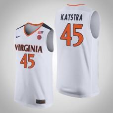 Austin Katstra NCAA Virginia Cavaliers Basketball Jersey - White