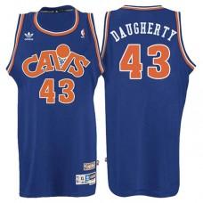 Cleveland Cavaliers #43 Brad Daugherty Blue Hardwood Classics Jersey