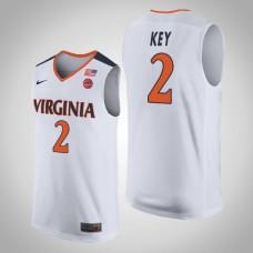 Virginia Cavaliers #2 Braxton Key White College Basketball Jersey
