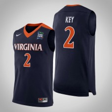 Virginia Cavaliers #2 Braxton Key 2019 Final-Four Jersey