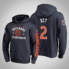 Virginia Cavaliers #2 Braxton Key Navy 2019 Basketball Champions Hoodie