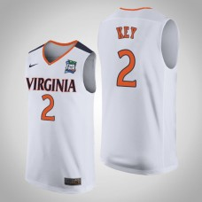 NCAA Braxton Key Virginia Cavaliers White 2019 Final-Four Replica Jersey