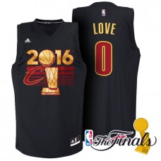 Cleveland Cavaliers #0 Kevin Love Black Champions Jersey
