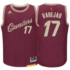 Cleveland Cavaliers #17 Anderson Varejao Red Christmas Jersey