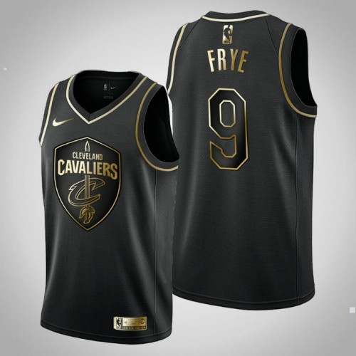 Cavaliers Golden Edition Channing Frye Black Jersey - Men's