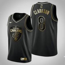 Cleveland Cavaliers #8 Jordan Clarkson Black Golden Edition Jersey