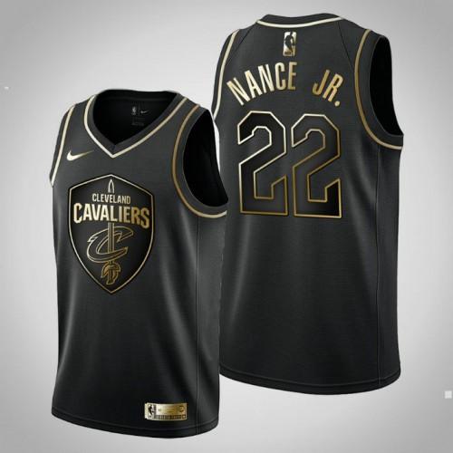 Cavaliers Golden Edition Larry Nance Jr. Black Jersey - Men's