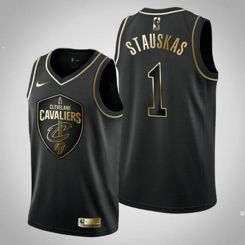 Cleveland Cavaliers #1 Nik Stauskas Black Golden Edition Jersey
