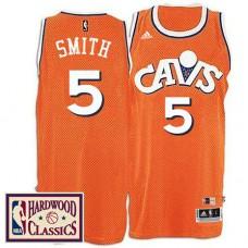 Cleveland Cavaliers #5 J.R. Smith Orange Hardwood Classics Jersey