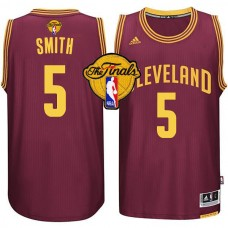 2015 Finals Cavaliers #5 JR Smith Red Jersey